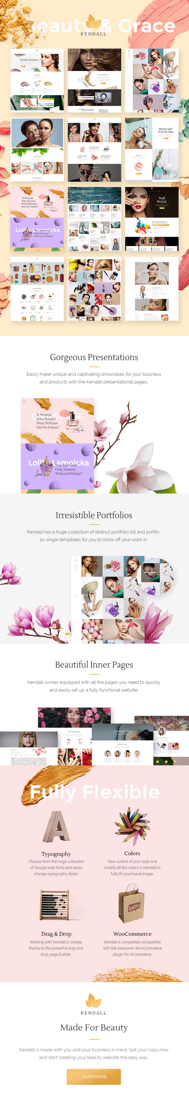Kendall - Spa, Hair & Beauty Salon Theme - 1
